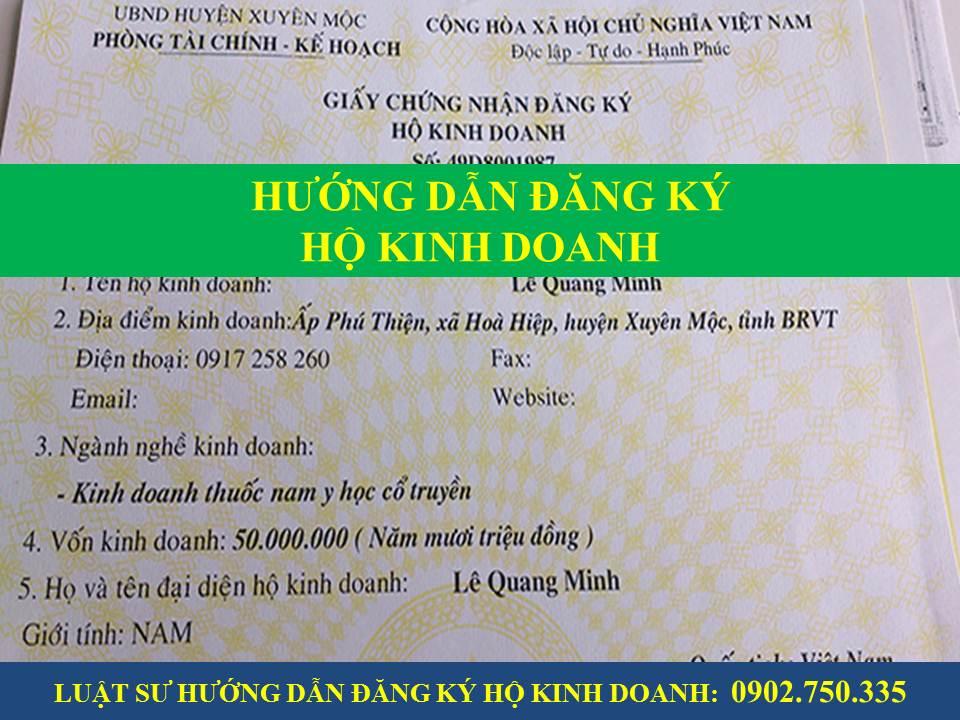 Dịch vụ đăng ký hộ kinh doanh cá thể tại Quảng Nam, Đà Nẵng