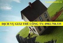 Dich vu giai the cong ty tai Quang Nam Da Nang