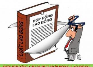don phuong cham dut hop dong lao dong do thay doi co cau kho khan