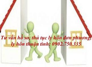 Ho so thu tuc ly hon tai Quang Nam Da Nang